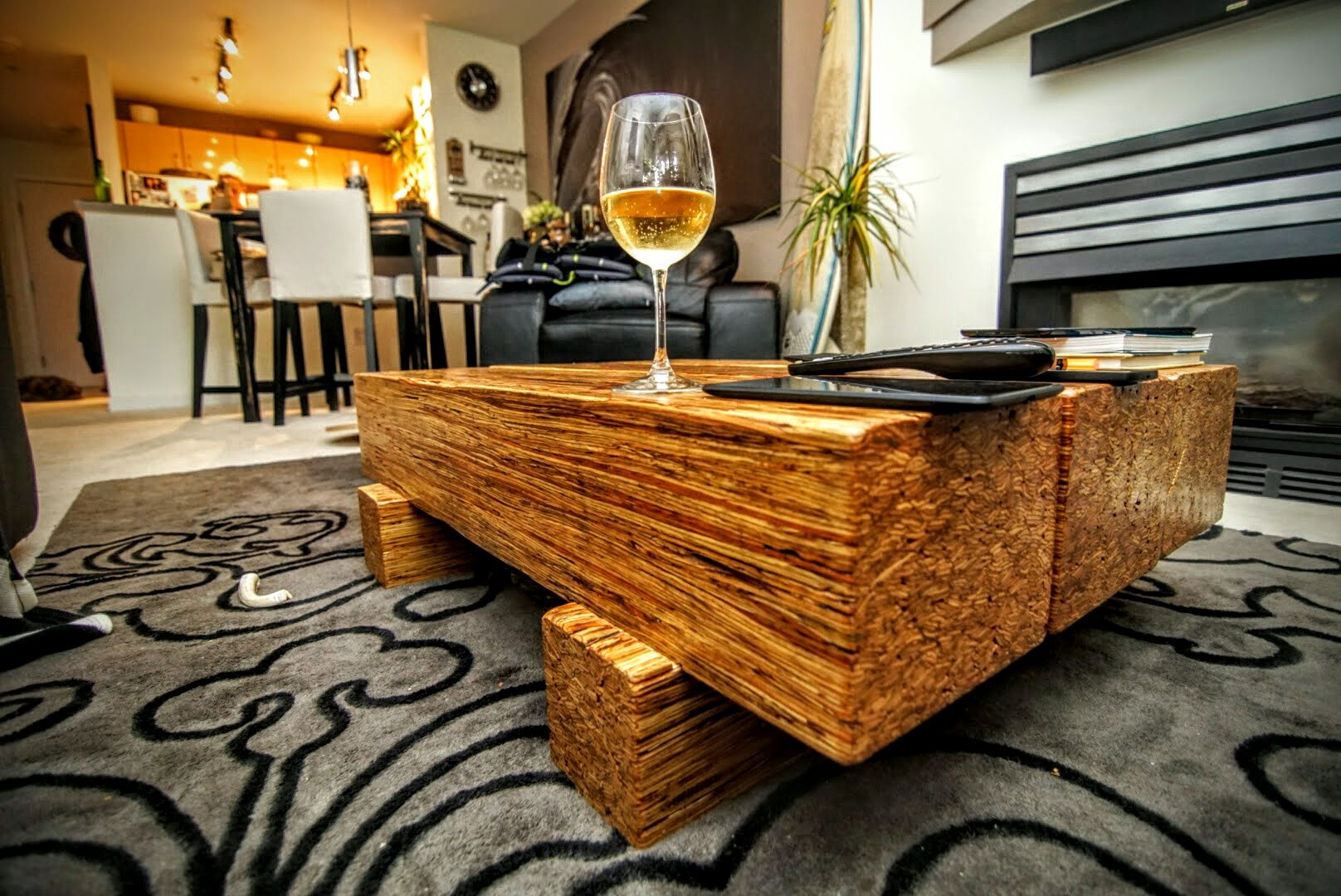 Solid parallam coffee table
